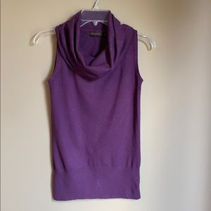The Limited sleeveless cowl neck light sweater
